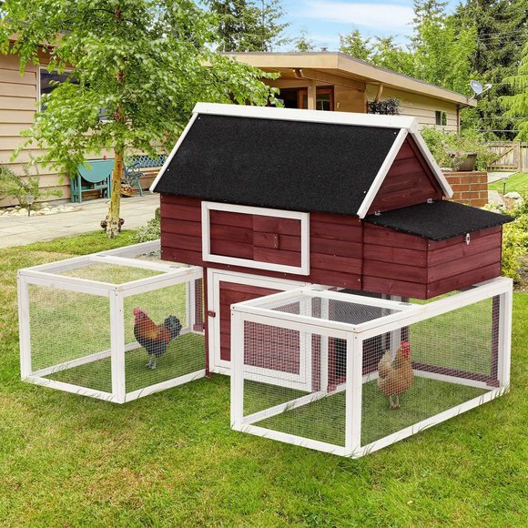Big red barn chicken coop02