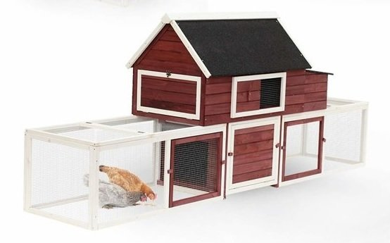 Big red barn chicken coop06